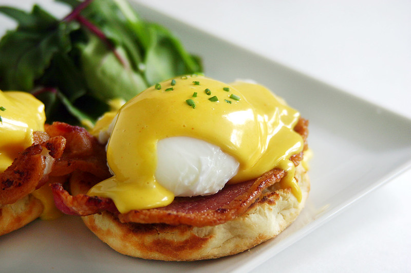 eggs benedict from scratch: buttermilk english muffins, blender ...