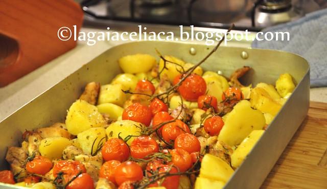 pollo patate e pomodorini