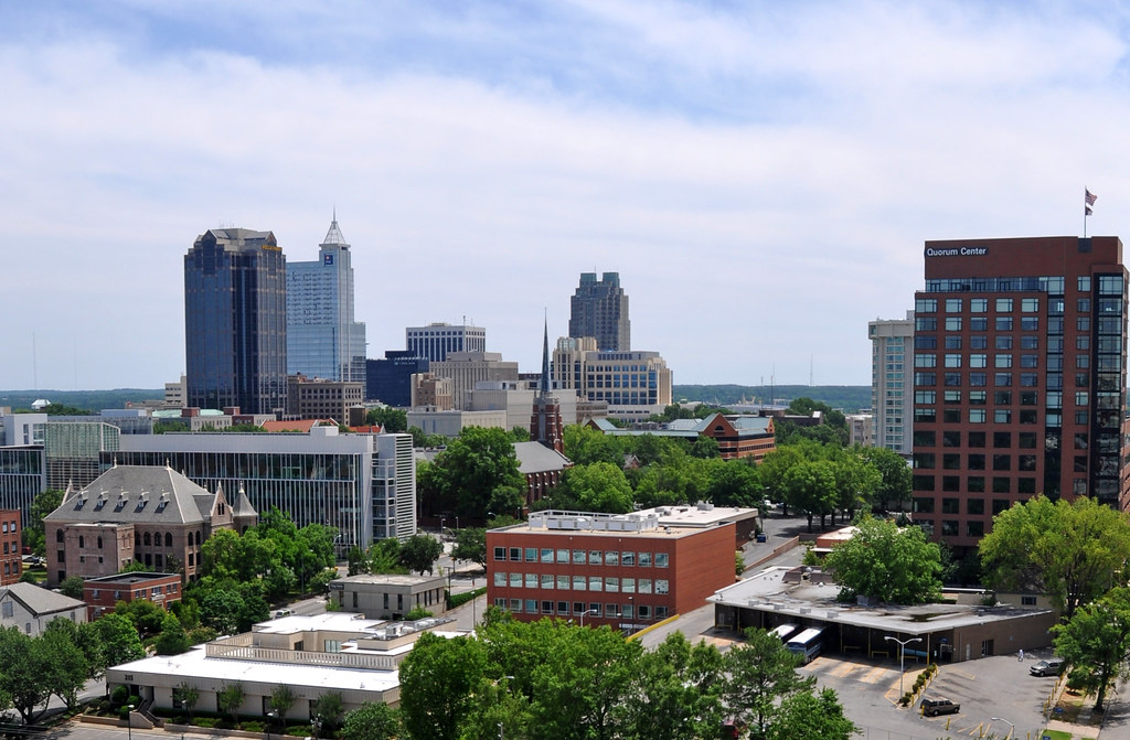 Downtown Raleigh From The Street From The 32nd Floor