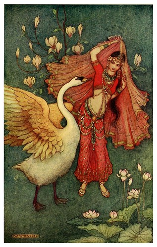 006-Damayanti y el cisne-Indian myth and legend 1913-Warwick Goble