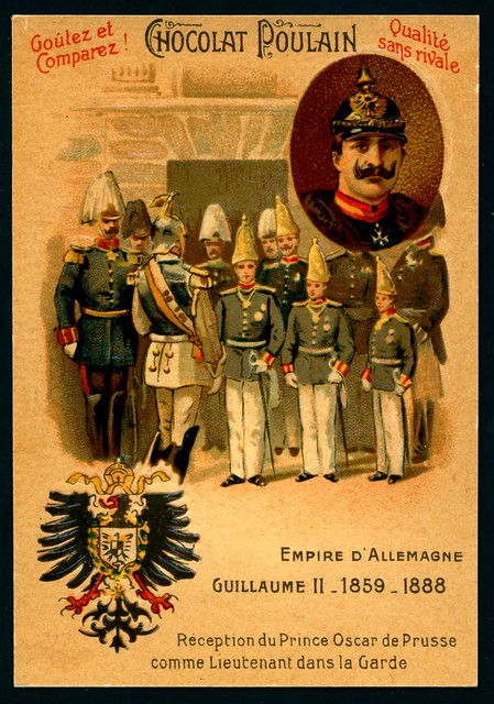 French Tradecard - Wilhelm II, German Emperor