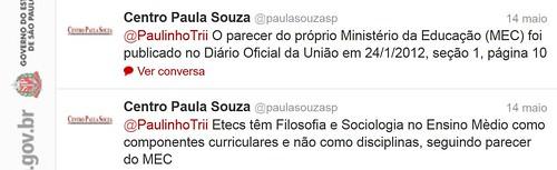 Tweets - @paulasouzasp