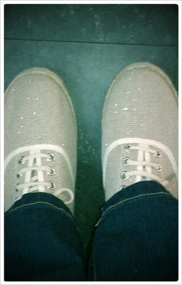 Loving my sparkly footwear!