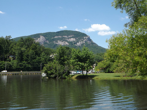 Chimney Rock from Lake Lure 2