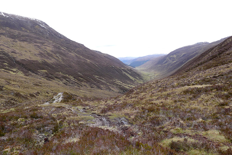 Looking down Gleann Chorainn