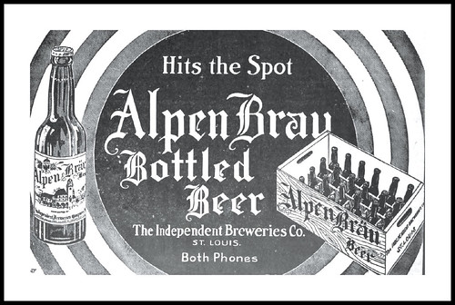 1916 Alpen Brau Bottled Beer The Independent Breweries, St. Louis, MO by carlylehold