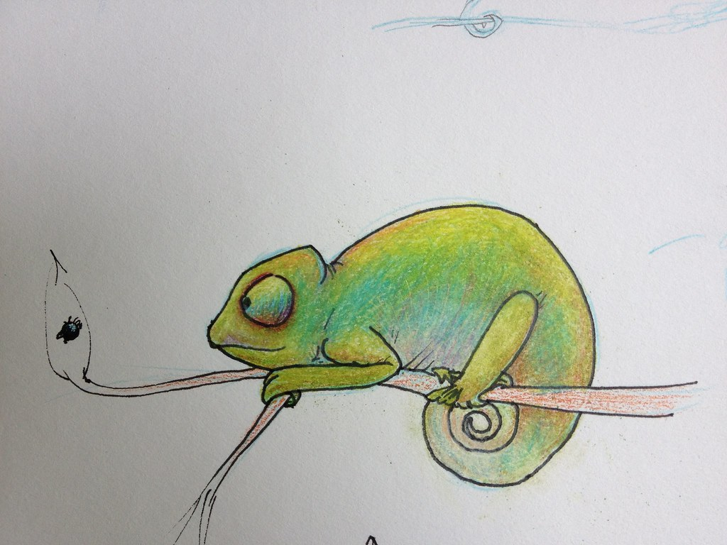 How To Draw Chameleon