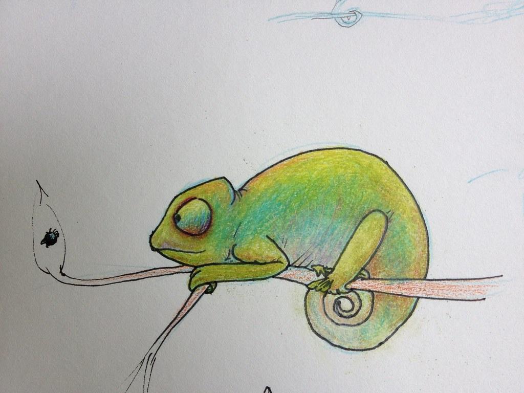 Chameleon drawing - photo#14