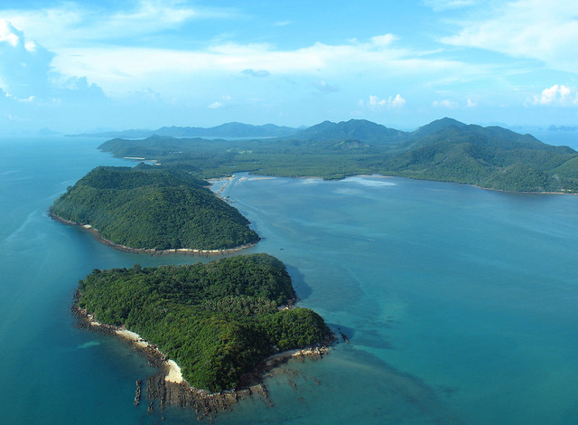 Koh Yao Yai island from the air