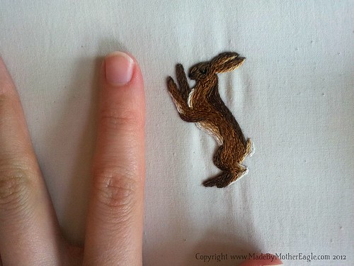 miniature Hare embroidery
