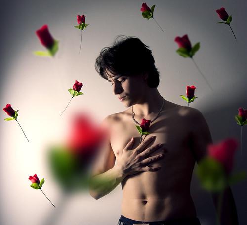 無料写真素材, 人物, 男性, 人物  花・植物