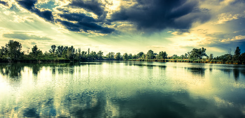 trees sunset panorama lake reflection tree clouds landscape hdr silverrays ywprs ywpn