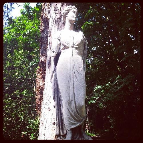 Greek Revival statue full