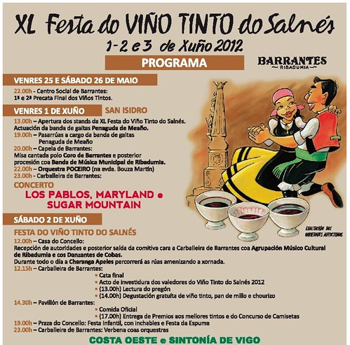 Ribadumia 2012 - XL Festa do Viño Tinto do Salnés en Barrantes - programa 1
