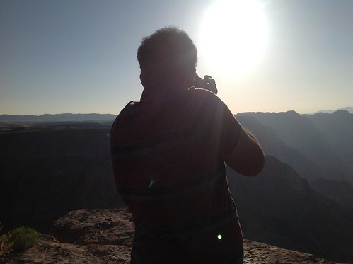 Trying to capture the sun in Beautiful Grand Canyon