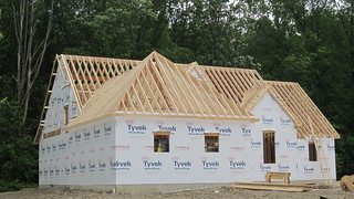 Portland Home Builders New Home Being Framed