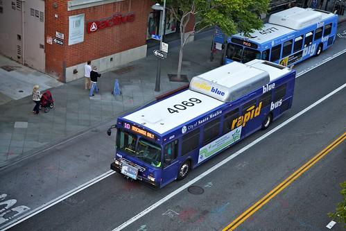 Big Blue Buses On Broadway