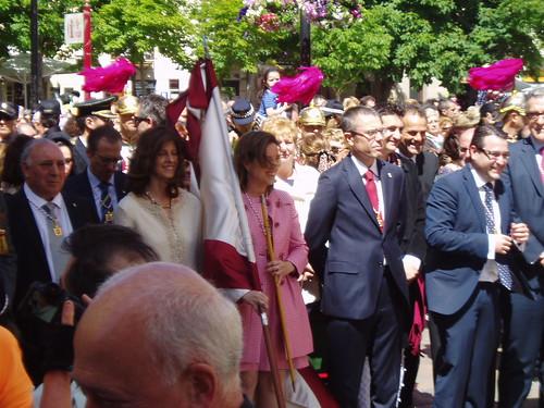 Cuca Gamarra y otros miembros del Ayuntamiento