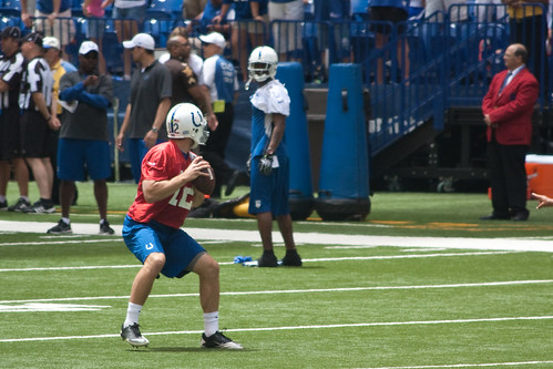 Andrew Luck Indianapolis Colts Mini-Camp
