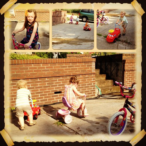 A nice day to ride #bicycles and #tricycles and #cars.