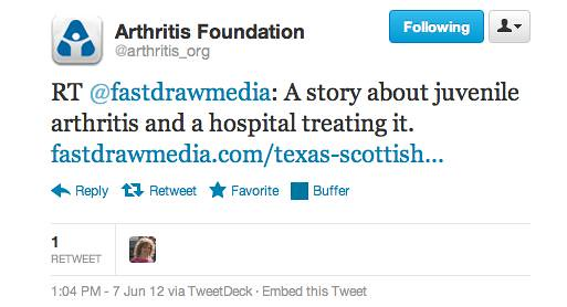 Arthritis Foundation Retweet