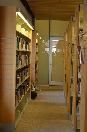 library aisle