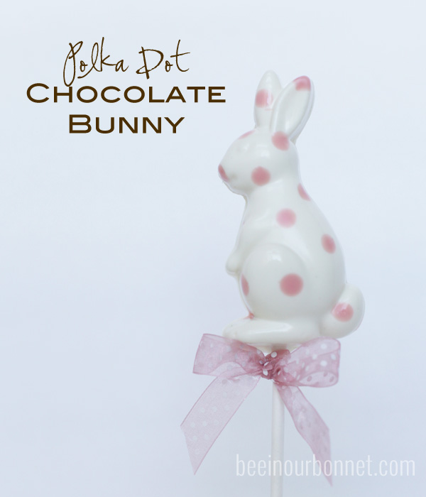 polka dot chocolate bunnies 1