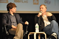 Jesse Eisenberg and David Fincher