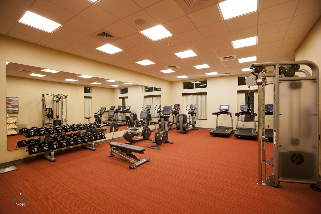 Fitness center in the hotel