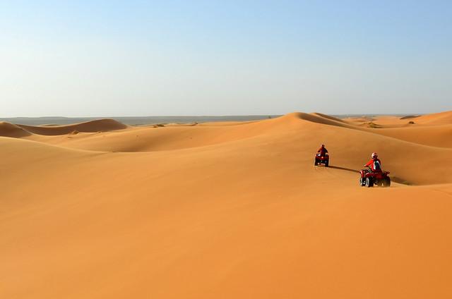 Ruta en quad por las dunas de Erg Chebbi