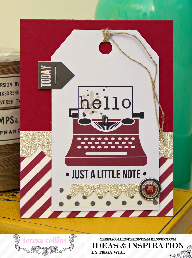 TERESA COLLINS DESIGN TEAM Typewriter Hello Card