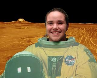 Barrett Teacher Elizabeth Rente NASA Spacesuit