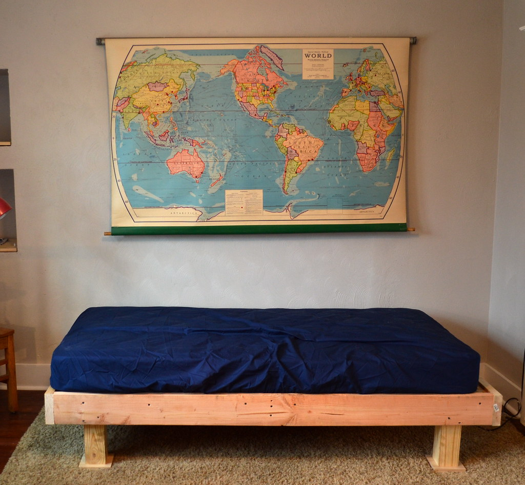 Cool Instead of painting the entire piece I decided to upholster the frame I was inspired by this upholstered bed at Land of Nod at the crazy price of