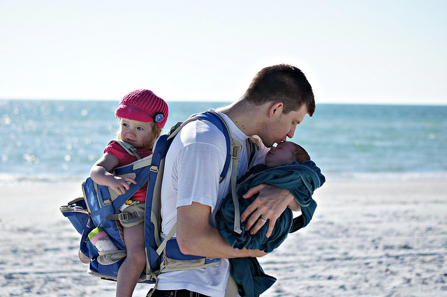 My babies & I at Fort De Soto Beach in St. Petersburg, Florida