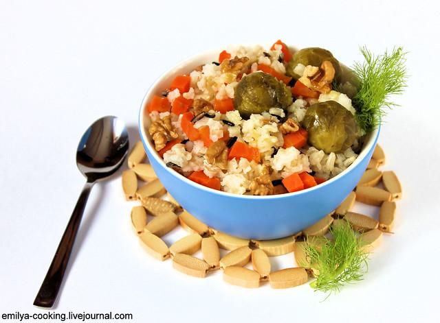 Рис с овощами на пару 2