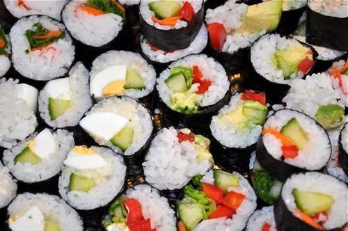 sushi platter close up 1