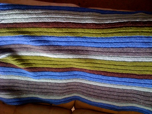 My baby boy blanket is coming along, over half way done!