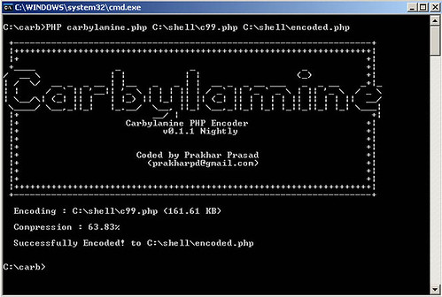 Carbylamine - PHP Script Encoder to Obfuscate/Encode PHP Files
