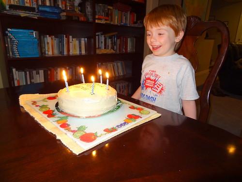 Henry with Birthday Cake