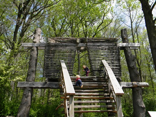 up the treehouse steps