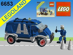 Lego City Highway Maintenance Truck - Nr. 6653 Recreated in Miniland Scale