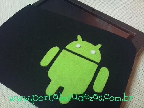 Case Ipad/ Tablet com o robozinho simpático Android by miudezas_miudezas