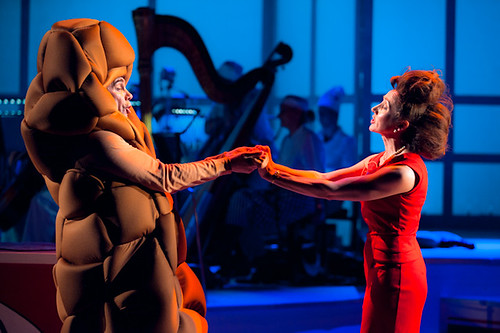 "Gavin Mitchell and Pauline Knowles in Pass the Spoon, a ""sort-of opera"" by David Shrigley, David Fennessy and Nicholas Bone. © Tommy Ga-Ken Wan"
