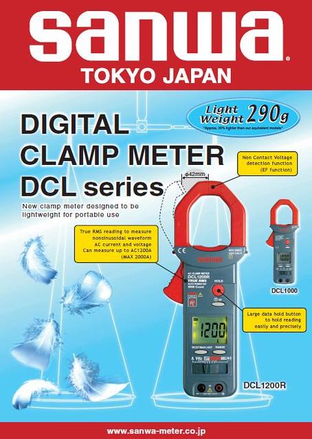 Clamp Meter Brands : Clamp meter digital sanwa brand
