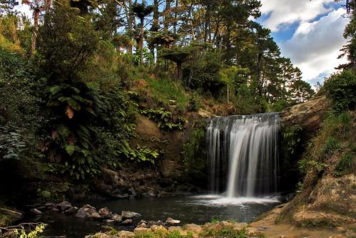 newzealand nature water canon landscape waterfall bush auckland waterview flowingwater 550d t2i oakleycreek canoneos550d oakleycreekfalls
