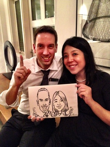 Caricature live sketching for Diageo Singapore Pte Ltd - 16