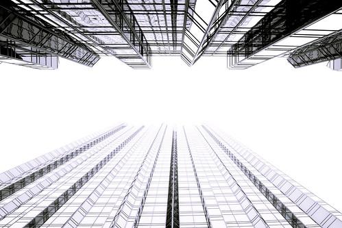 無料写真素材, 建築物・町並み, ビルディング, モノクロ