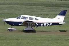 G-BWUH - 1996 build Piper PA-28-181 Cherokee Archer III, departing Barton after a brief visit