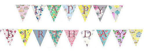 Vintage Style Birthday Party Bunting