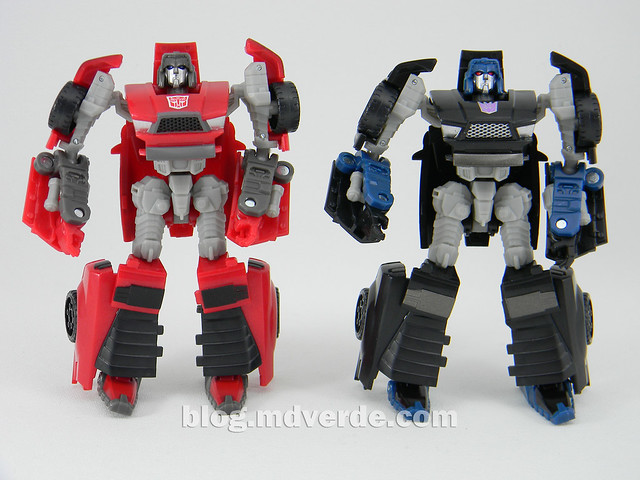 Transformers Windcharger vs Wipe-Out Scout - United - modo robot